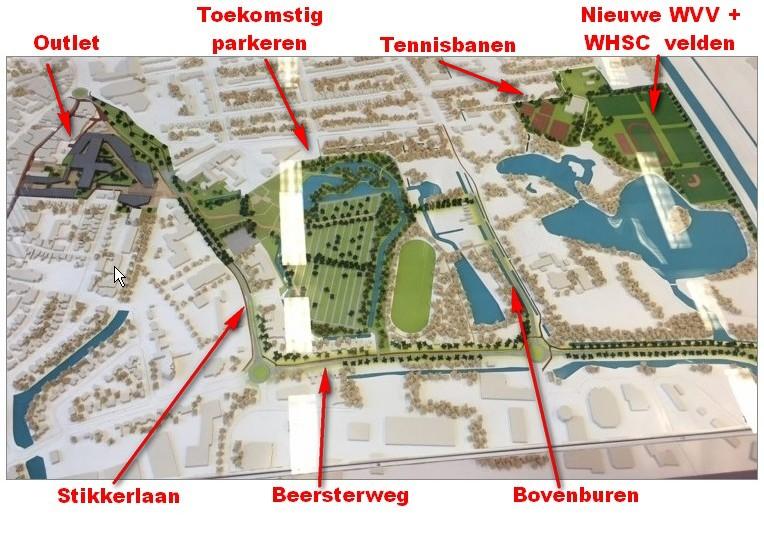 Totaalplan outlet center Winschoten (foto: RTVNoord - Mario Miskovic; Legenda: Gert van der Laan)