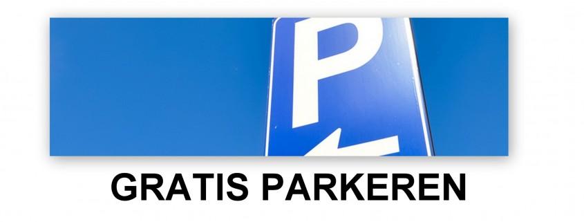 P+tekst gratis parkeren groot