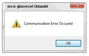 Communication Error Occured+extra